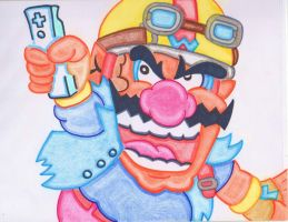 Wario and the Wii-Mote by vmgp2