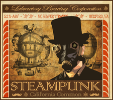 Labretory Brewing Company Steampunk label by DaneFarGone