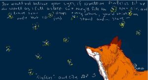 Fox and bugs by Joava