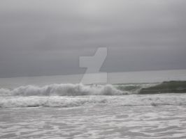 Rolling Wave in the Gray by somechick73
