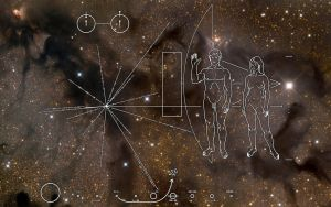 Pioneer 10 Plaque by Lord-Iluvatar