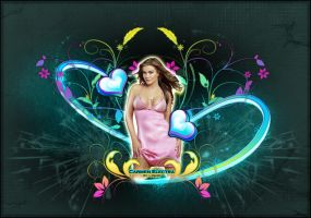 carmen electra abstract by LiNoR