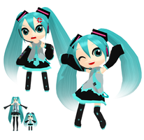 MMD - Chibi Miku 2 + Download by Aira-Melody