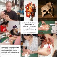 Leather Mask Making Workshops by Alyssa-Ravenwood