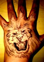 Hand Lion by pollylobster