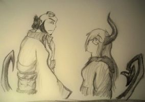 HELLBOY meets Daughter of Hell by Twilight-Wolf-Demon