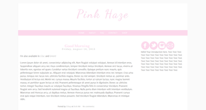 Pink Haze Blogger Template by tiny-moon