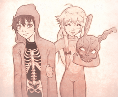 Mirai Nikki Vs Donnie Darko by likos