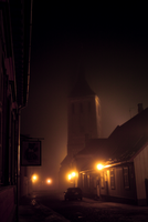 Fog at midnight by genky