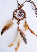 Dream Catcher Necklace by aurilianalence