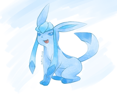 Glaceon Fan Art by Shingo-Hayasa