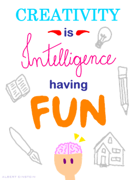 Creativity is intelligence having fun by leticiavicentinib