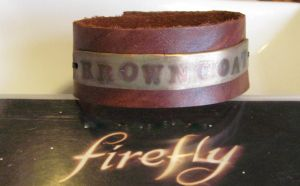 Browncoat Leather Cuff by Peaceofshine