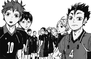 Transparent Karasuno Team by Background-chan