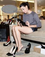 Aubrey Plaza Shoe Shopping by bassology88