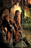 Diana and Cheetah pursued by LiamSharp