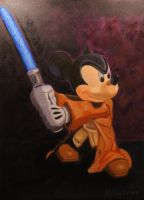 Jedi Mickey by luckyseven11779