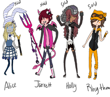 Adventure Time Adoptables by Ask-AlbinoWerewolf