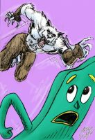 Wolfman vs Gumby by theRealJohnnyCanuck