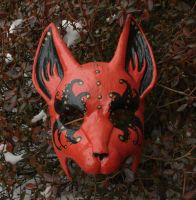 Festival Fox Mask red by nondecaf