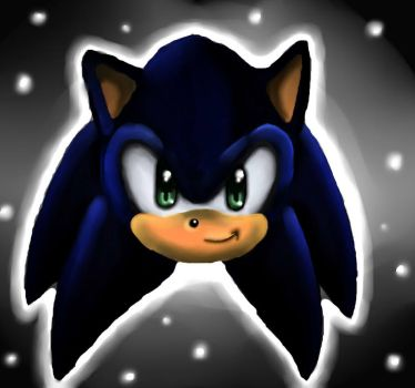 Sonic's head +SAI paint practice+ by IceAngel12