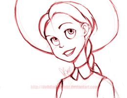 Toy Story: Jessie Sketch by Do0dlebugdebz