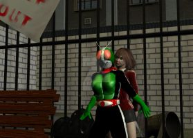 Masked rider  Protect Victim by HeroineFactory