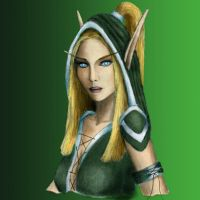 Alleria Windrunner color by seishyn