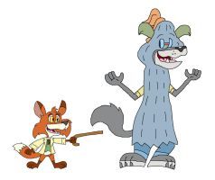 Brer Fox and Brer Wolf's Magic Mystery Show by HunterxColleen
