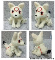 Chibiterasu Needlefelt by Swadloon