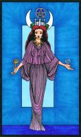 High Priestess Tarot Card by YoungWitches