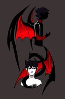 Cysiphen and Lucifer by Memphis-Rex