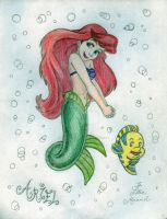 Ariel and Flounder by PrinceSsCarmilla