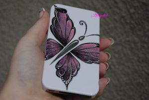 iphone case butterfly by Angelik23
