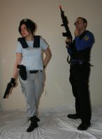 Jill and Wesker 8 by MajesticStock