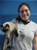 Fluffy, Me, and a ZADR Shirt by orangechidna