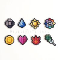 Kanto Gym Badges by badger-creations