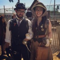 capt Jasper King and archaeologist Adelaide Song by GonzoTheGrey
