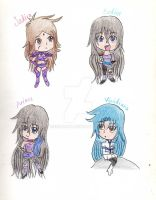 Chibi Asteria Saints by IcyCryStaLHeaRt