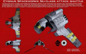 Nu-Class attack shuttle ortho [New] by unusualsuspex