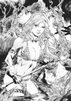Red Sonja by Marcio Doug by Ed-Benes-Studio
