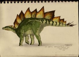 Stegosaur-sketchbook by commander-salamander