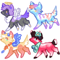 cool adopts 0/4 by PlaguePuppet