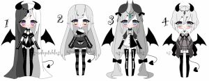 monochromatic demon adoptable batch CLOSED by AS-Adoptables