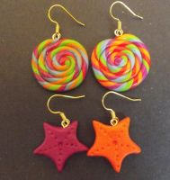 Fimo Earrings 1 by MeticulousBlue