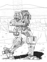 Nimrod Low-Tech 'Mech Is A One-Armed Bandit by TheCentipede