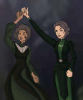 Legend Of Korra: Lin and Suyin Beifong by AvengerBlackwidow