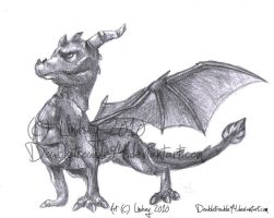 Spyro - Traditional Sketch by LTGRAPHIX