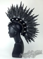 Faux Feather Mohawk with Spikes by MissGdesigns