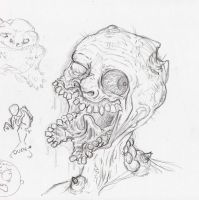 Gross Zombie Sketch by zones-productions